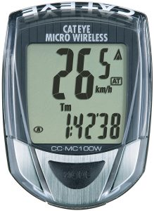 Cateye CC-MC100W Micro Wireless 10-Function Bicycle Computer